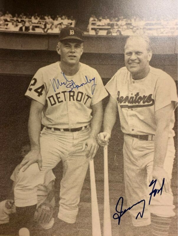 Gerald Ford / Mickey Stanley Dual Signed 11 X 14 Photo JSA LOA