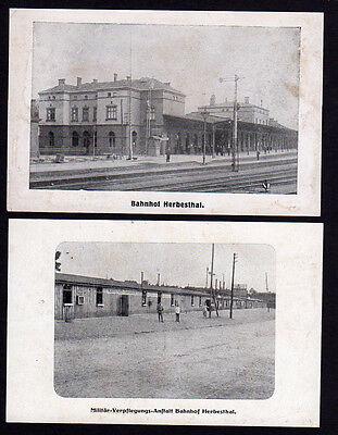 27454 AK Herbesthal Bahnhof Militär Verplegungs Anstalt