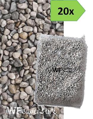 Ghiaino tondo di fiume 4/16mm - 20 sacchi da 25 kg - sassi ghiaia graniglia