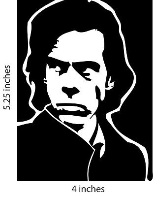 2 NICK CAVE and the bad seeds stickers cut vinly decal acts Boys Next Door