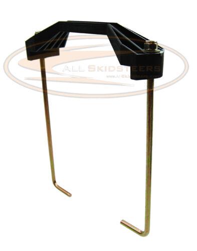For Bobcat 773 Battery Tray Hold Down Kit Bracket Skid Steer Loader Pan Plate