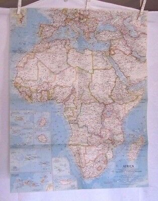 1960 National Geographic Map - Africa  - 19 x 24 1/2 inches
