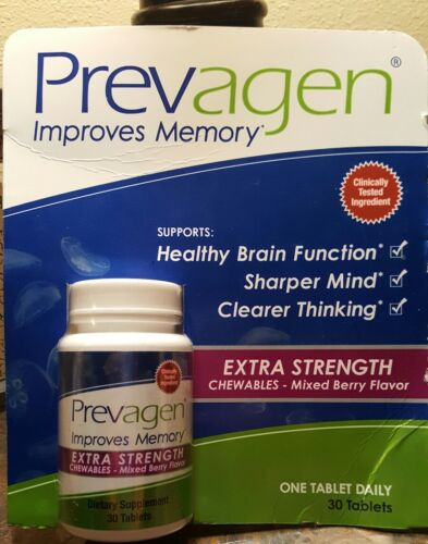 Prevagen Improves Memory EXTRA Strength 30 Chewable Mixed Be