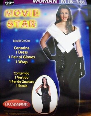 NEW WOMEN'S Adult MEDIUM 8-10 Halloween Costume MOVIE STAR  - Female Movie Star Halloween Costumes