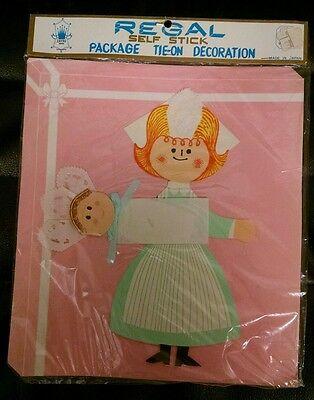 1950s Maternity Package Decoration, Nurse & Baby Cut Out, Adorable!  MIP!  Regal