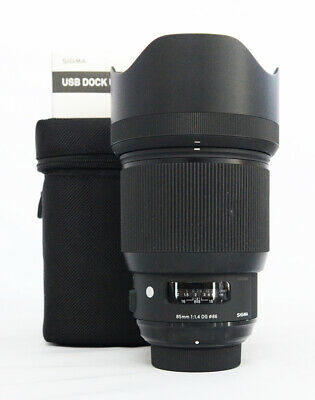 # Sigma Art 85mm F/1.4 HSM DG Lens For Nikon + USB Dock S/N 52457409