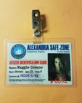 The Walking Dead Id-Plakette - Alexandria Maggie Greene Cosplay Kostüm Requisite (The Walking Dead Maggie Kostüm)