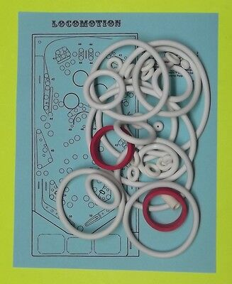 1981 Zaccaria Locomotion pinball rubber ring kit for sale  Eustis