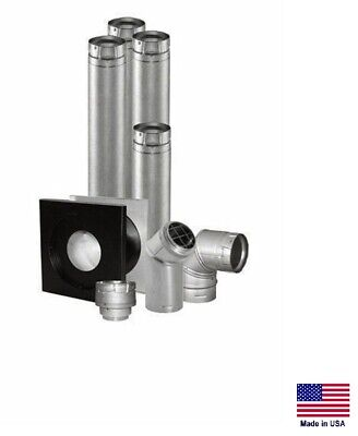 Venting Kit For Propane Lp Natural Gas Ng Heaters - 4 For Horizontal Venting