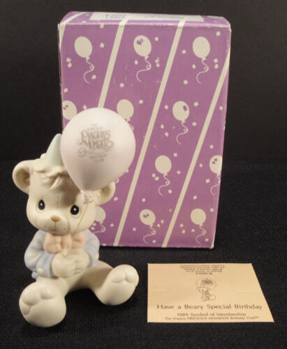 PRECIOUS MOMENTS Figurine Have A Beary Special Birthday 1989 B0004 Members VTG
