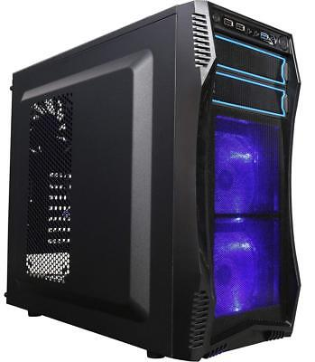 ROSEWILL ATX Mid Tower Gaming Computer Case, Case with Blue LED for Desktop...