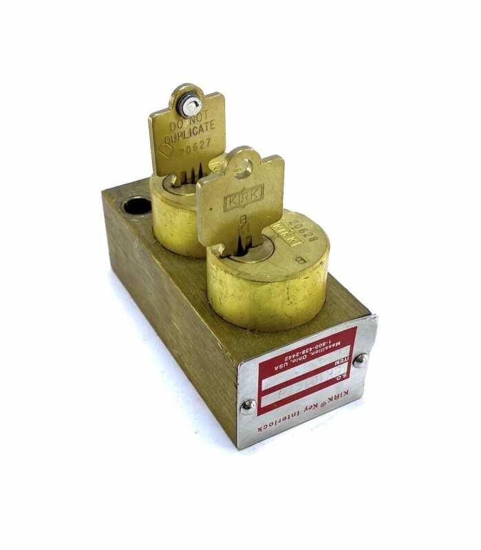 KIRK CK101478 Double Kirk Key Interlock w/2 Keys
