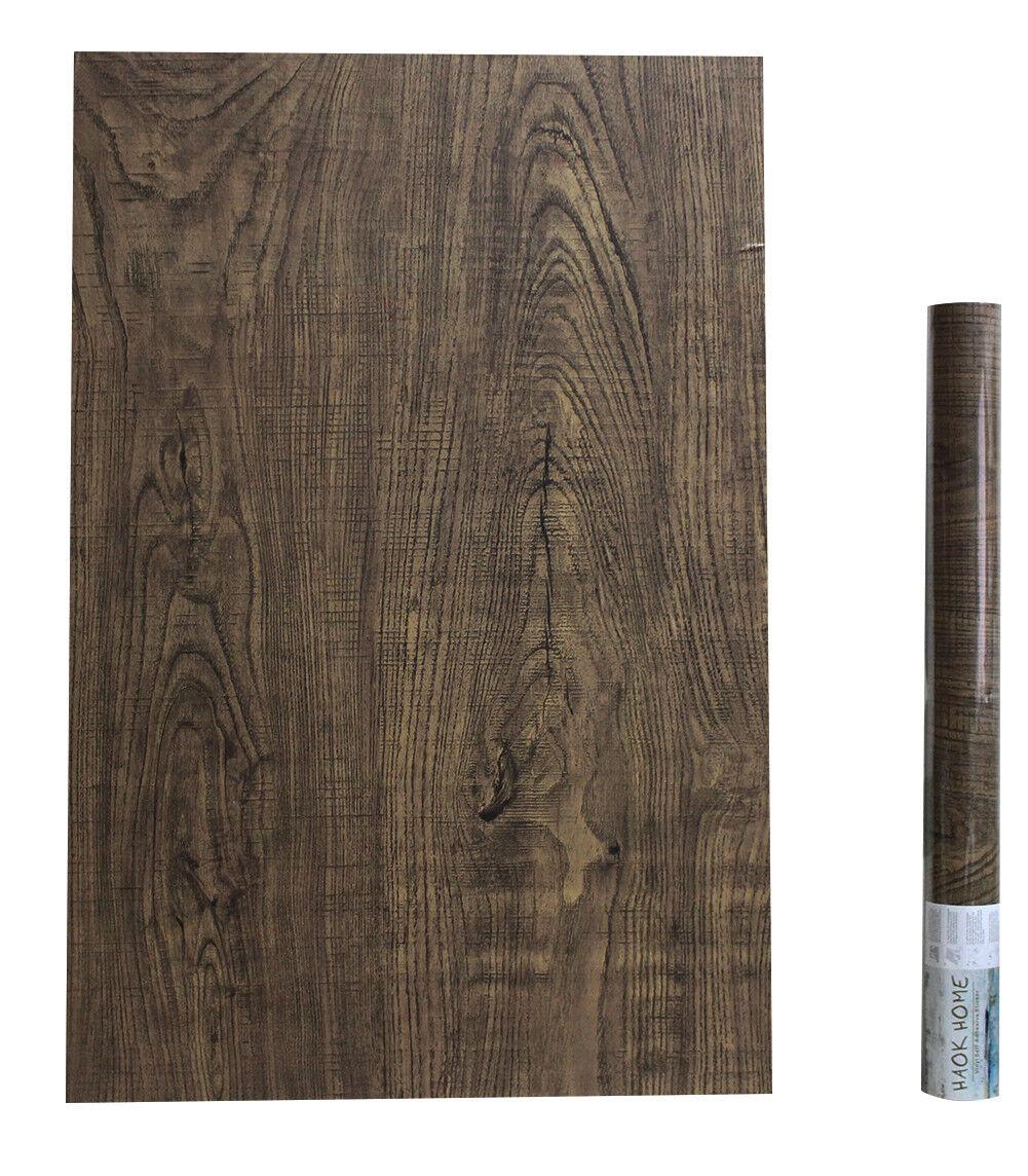 Faux Wood Wallpaper Peel & Stick Brown Wooden Plank Sticker