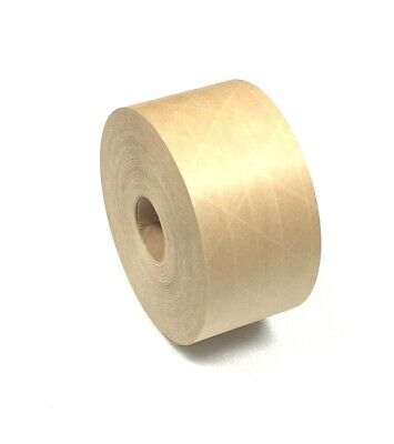 Brown Paper Tape 3 X 375ft Reinforced Gummed Packaging Tape Case Of 1 Rolls