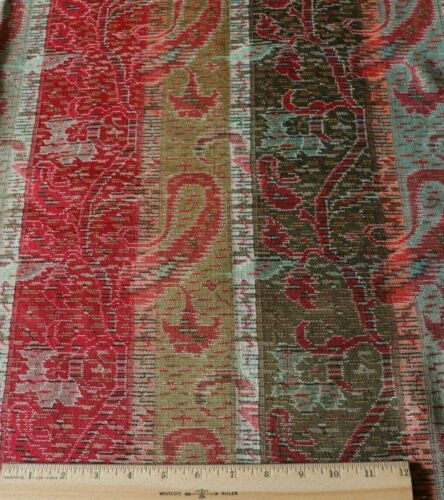 "Antique Victorian Wool Kashmir Handwoven Shawl Fabric Piece~L-20"" X L-34"""