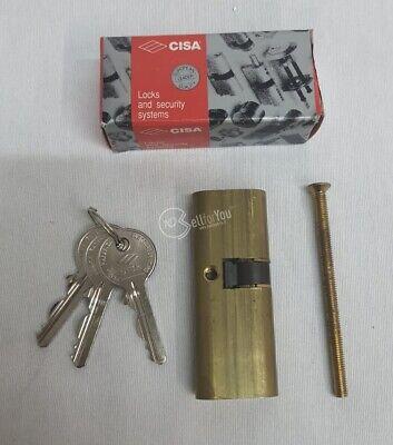 SERRATURA A DOPPIO CILINDRO IN OTTONE CISA COD. 08210-12-0 CON VITE E TRE CHIAVI