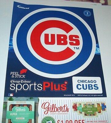Chicago Cubs Logo 2016 Promo Fathead Tribune Jewel Osco Exclusive World Series