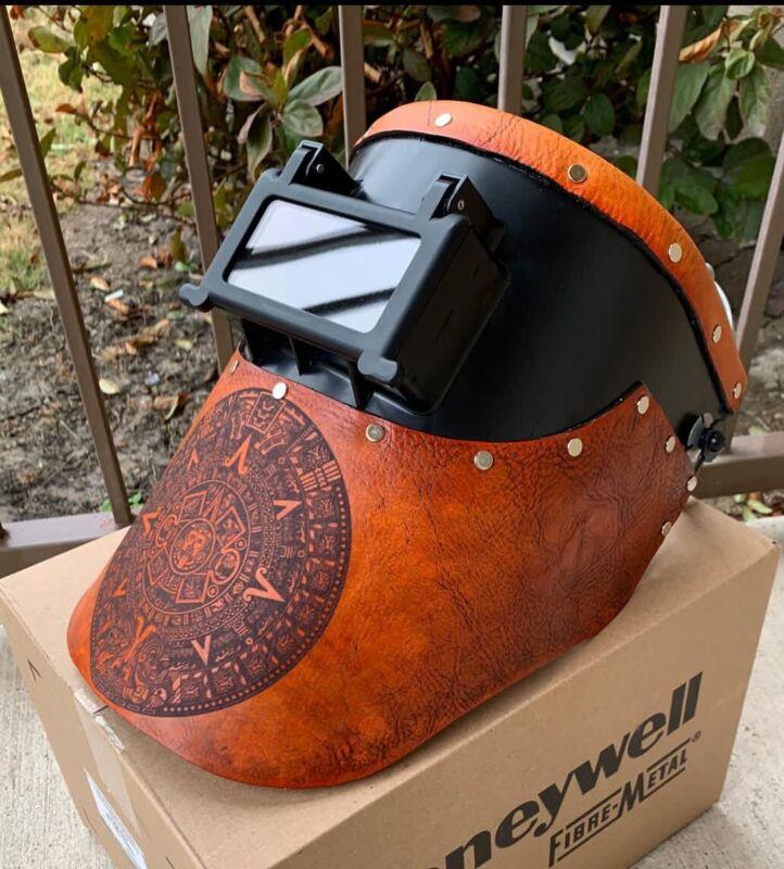 Tigerhood welding helmet aztec logo