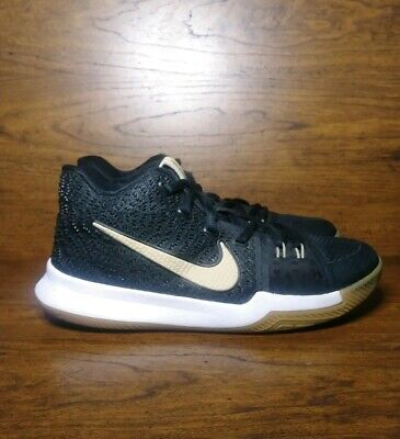 Nike Kyrie 3 Badge of Honor 859466-092 Youth Size 6 Black Kids Basketball Shoes