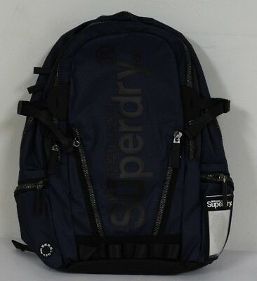 Superdry M91006JR/11S Mens Silver Tarp Polyester Carry Bag Backpacks Navy