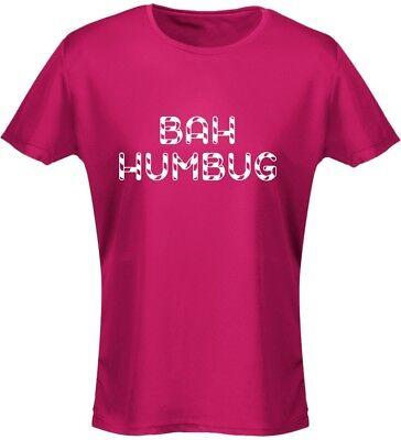 Bah Humbug Christmas Xmas Womens T-Shirt 8 Colours (8-20) by - Bah Humbug Kostüm