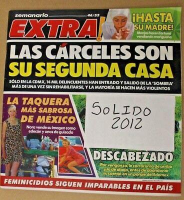 Semanario EXTRA, como ALARMA magazine, narcotrafico, Mexico, TV NOTAS, TV NOVELA