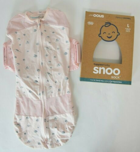Snoo Sleep Sack Happiest Baby Organic Cotton Large 4-6 Months 18-26 lbs Pink