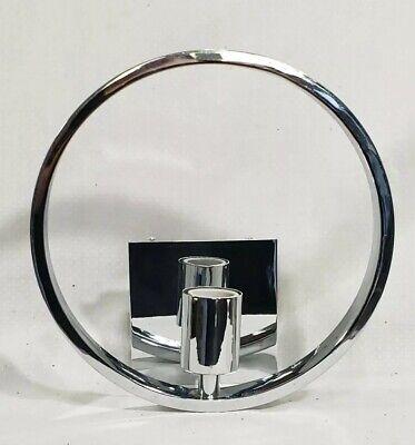 Mid century modern 1960's  Chrome Circular Wall Sconce