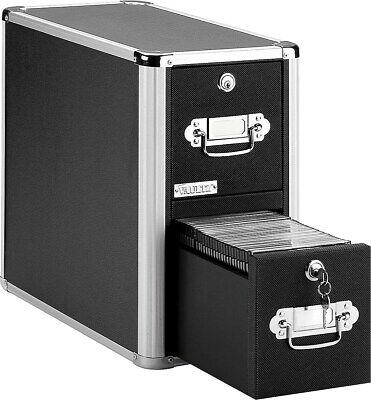 Vaultz Locking 2-drawer Cd Cabinet Black 14 Vz01094