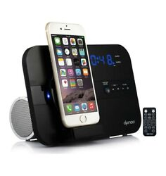 DPNAO 5 in 1 iPhone Charger Dock Station Alarm Clock FM Radio X-XS-XR + More
