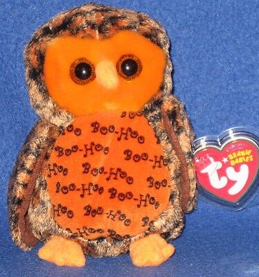 TY BOO WHO? the HALLOWEEN OWL - (HALLMARK GOLD CROWN EXCL) - MINT with MINT TAGS](Beanie Baby Halloween Owl)