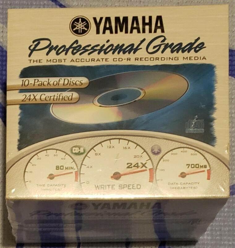 Yamaha Professional Grade 700MB 24X 80 MIN. CD-R 10 Pack New/Sealed