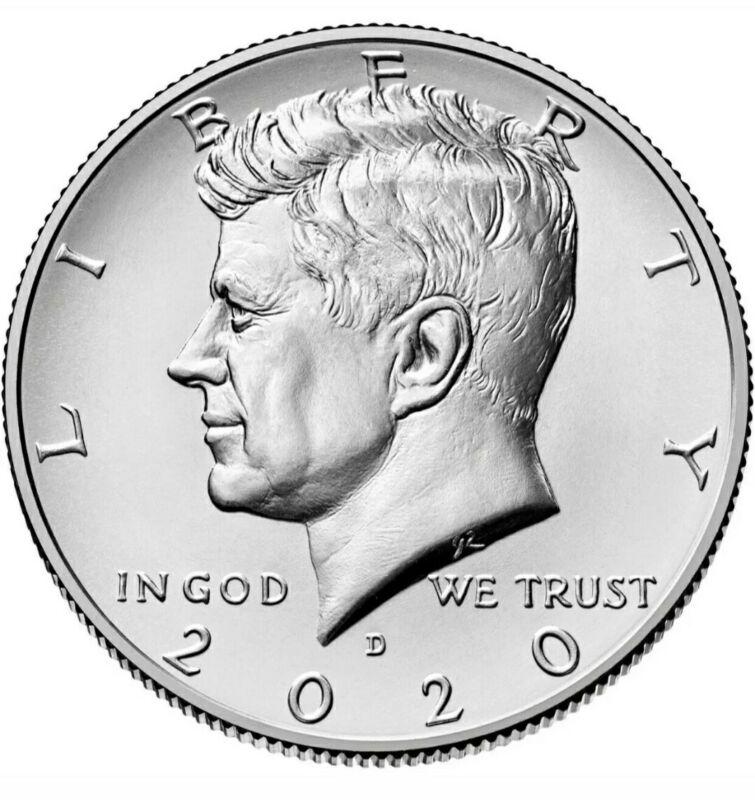 2020 D Kennedy Half Dollar Direct From US Mint Rolls BU