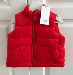 Seed Heritage Baby Red Puffer Vest Sz S - Brand New! Bexley North Rockdale Area Preview