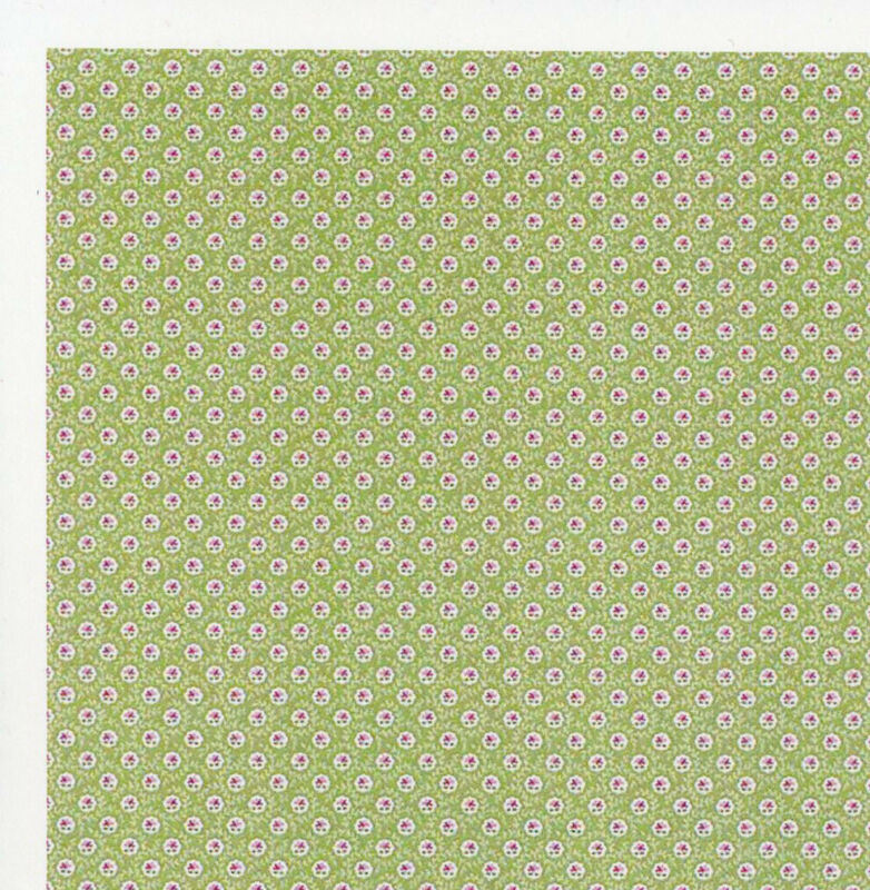 Dollhouse Wallpaper Cottage Jacobean Green