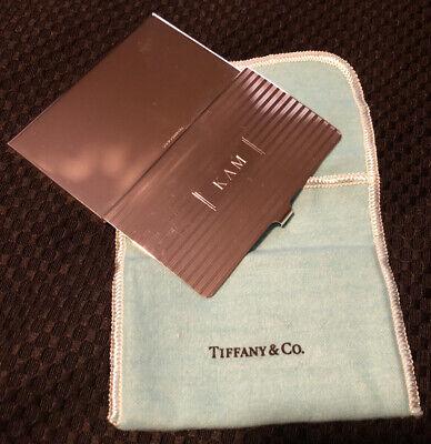 Vintage Tiffany Co Business Card Case Holder Sterling Silver 925 Engraved Kam