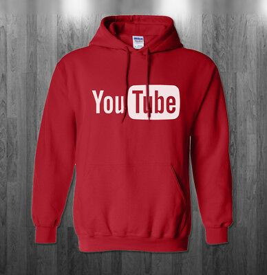 Youtube Logo Hoodie You Tube Funny Halloween Costume Sweatshirts Adult Kids Size