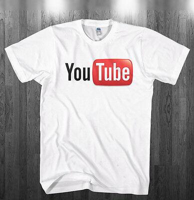 YouTube logo T-shirt You Tube broadcast youtuber white Shirts Adult Kids sizes (Logo Tube)