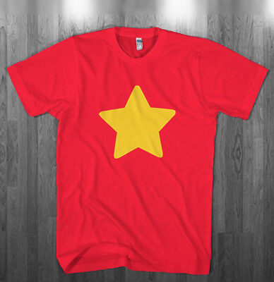 Yellow Star Red T-shirt Halloween costume Shirts Adult Kids size