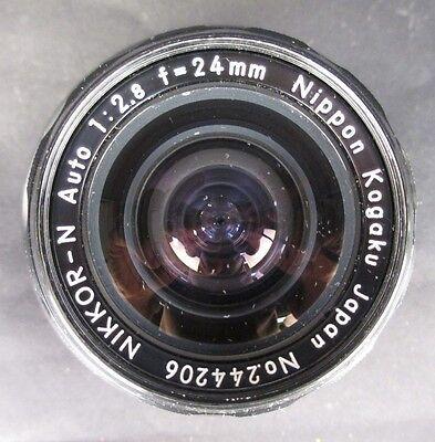 Vintage Nikon Nikkor-N Auto 1:2.8 f=24mm Lens