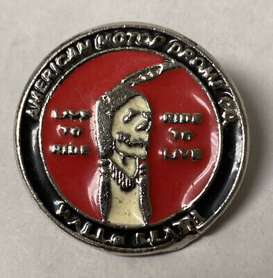 Indian Motorcycle American Motor Drome Co. Wall Of Death Pin Biker