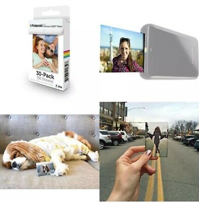 "2""x3"" ZINK Photo Paper 30 SHEETS Instant Printer LG Zip PoGo Snap Touch HP Z2300, used for sale  Shipping to Canada"