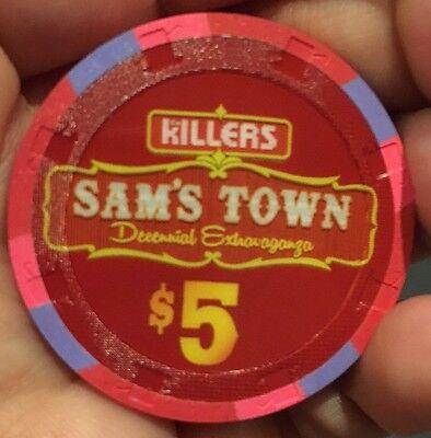 The Killers Decennial Extravaganza Poker Chip Sams Town