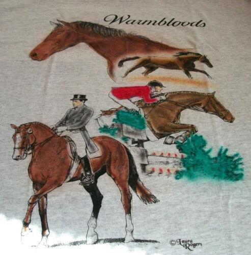 """Warmbloods Horse T-shirt  """" Natural """" XL ( 46 ~ 48 )"""