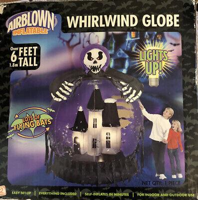 Gemmy Halloween Inflatable Whirlwind Snow Globe 6ft Haunted House Retired RARE