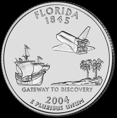 2004 P Florida State Quarter New U.S. Mint
