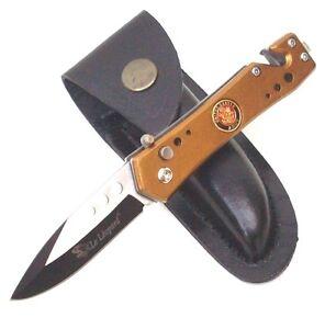 Taschenmesser Army Automatik Messer,Gurtschneider, Glasbrecher & Gürteltasche !