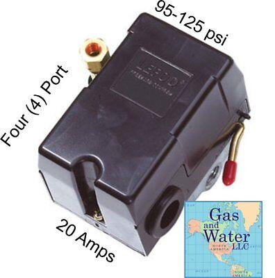 Air Compressor Pressure Switch 95-125 Psi 4 Port Air Pressure Control