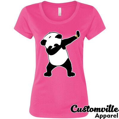 🔥 Panda Dabbing Women T Shirt Funny cute panda bear dancing party just dab - Dancing Bear Parties