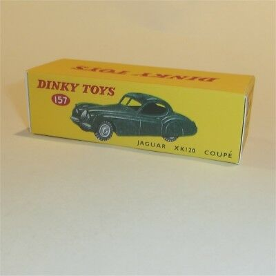 Dinky Toys 157 Jaguar XK120 Coupe Green empty Reproduction Box for sale  Shipping to Canada